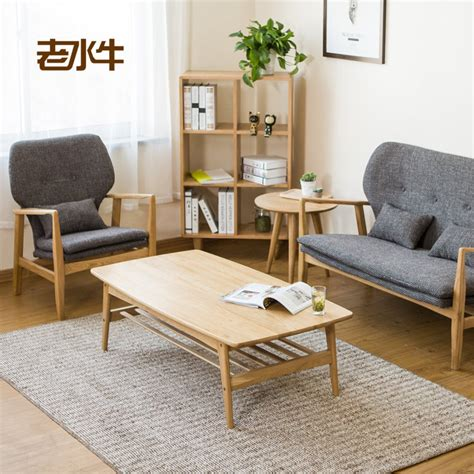 apartment coffee table solid wood coffee table small apartment minimalist oak