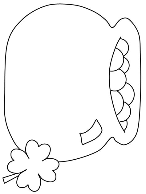 gold star coloring page rainbow and pot of gold coloring pages clover leaf