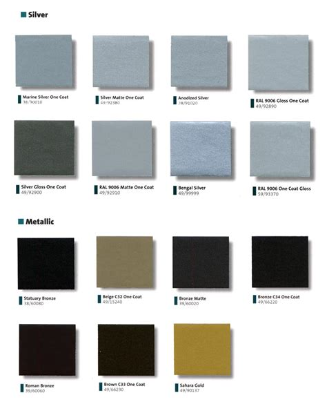 metallic paint color charts html autos post