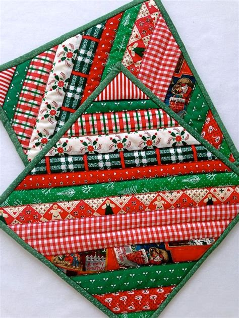 Fast Quilting Projects Pot Holders Mug Rugs Pincushions - quilted pot holders pads trivets