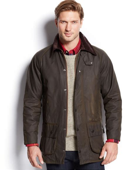 barbour jacket barbour s beaufort waxed jacket in green for lyst
