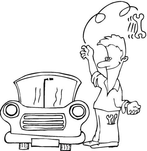 mechanics coloring tool coloring pages