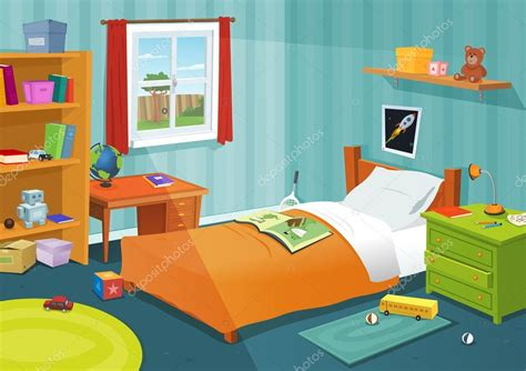 cartoon picture of a bedroom some kid bedroom stock vector 169 benchyb 15842325
