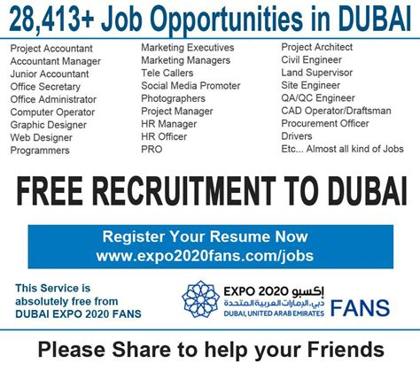 emirates recruitment expo 2020 jobs 2014 vacancies in dubai uae lahorimela