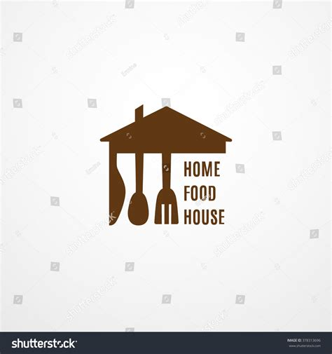 food logo template home food house logo organic food