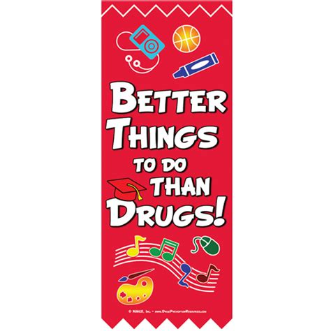 8 Things Do Better Than by Banner Ribbon Week Better Things To Do Than Drugs