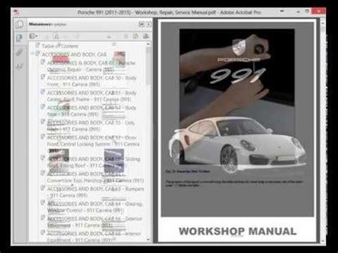 Porsche 991 2011 2015 Service Manual Wiring Diagram