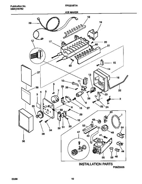 refrigerator parts frigidaire refrigerator parts diagrams