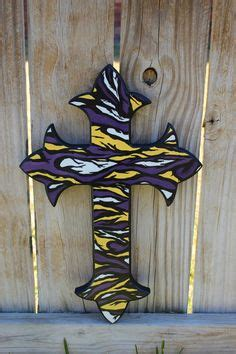 lsu home decor lsu geaux tigers striped fans home wall decor by