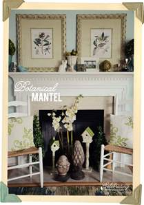 decorating a mantel botanical print inspiration