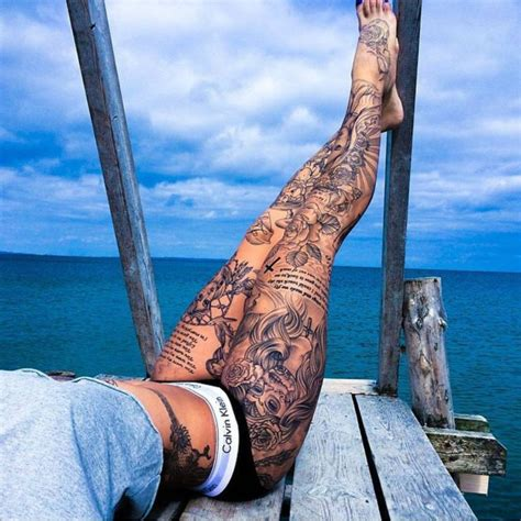 Hot Tattoo Legs | 30 insanely hot leg sleeve tattoos sortra