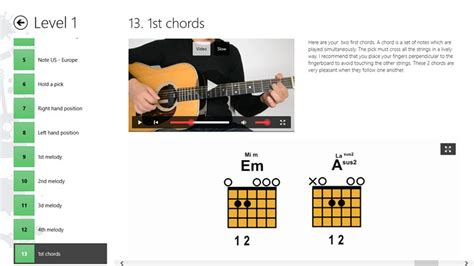 guitar tutorial app guitar lessons beginners 1 app for windows in the windows
