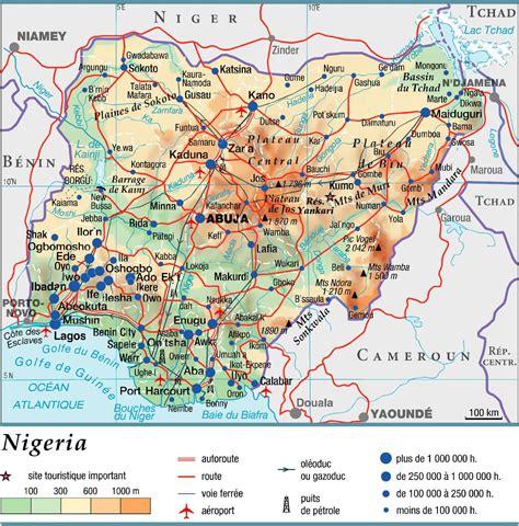 nigérie carte nig 233 ria carte du monde