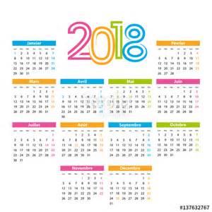 Panama Calendã 2018 Quot Calendrier 2018 Quot Fichier Vectoriel Libre De Droits Sur La