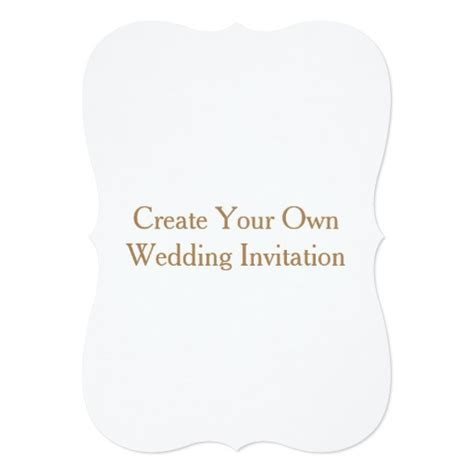 5x7 Wedding Invitations by Create Your Own 5x7 Wedding Invitation Bracket Zazzle