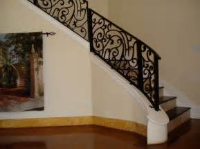 rot iron banister wrought iron stair railing interior interesting ideas