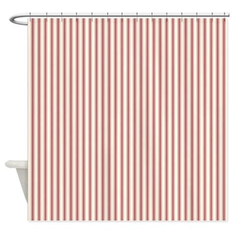 red ticking shower curtain red ticking shower curtain by admin cp3083734