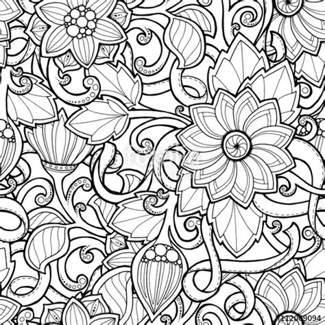 Pola Motif Mosaic Pattern quot doodle seamless background in vector with doodles