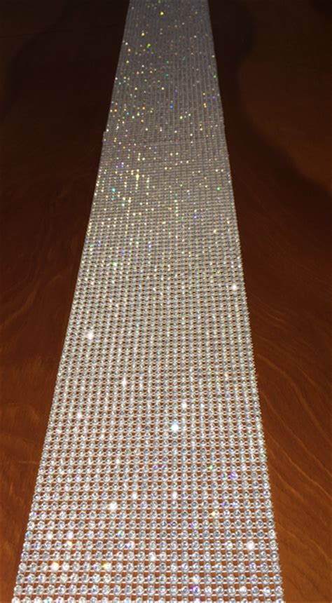 rhinestone table runner for rent or purchase