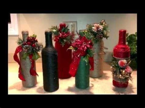 como decorar botellas de vidrio navidad como decorar botellas de vidrio con cabuya manualidades