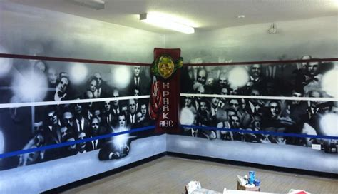 boxing wallpaper for bedrooms boxing club graffiti mural hand painted boxing ring and
