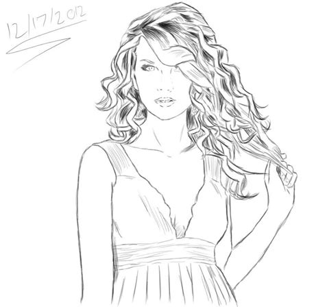 taylor swift coloring pages easy taylor swift sketch by sarugaki339 on deviantart