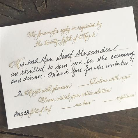how to fill out rsvp cards for a wedding how to properly fill out an rsvp card wedding inspirations response cards