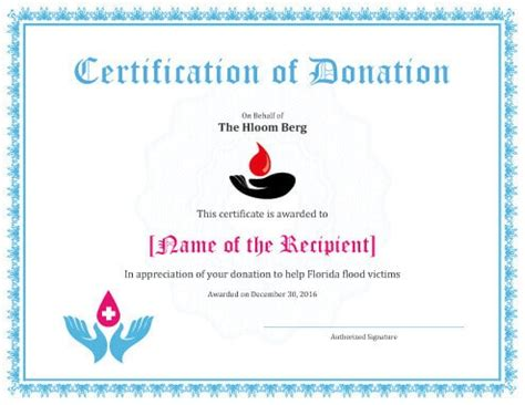 7 Printable Donation Certificates Templates Donation Certificate Template
