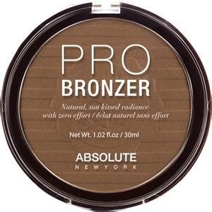 Make Up Absolute New York teint pro bronzer absolute new york parfumdreams