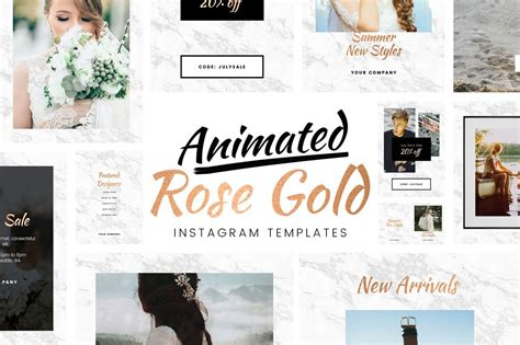 photoshop animation templates free animated gold instagram template for photoshop