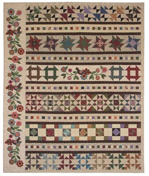 Row Quilt Patterns by Cobblestone Way Row Quilt Pattern By Deborah Borsos And