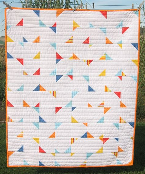 triangle pattern quilt pdf pattern confetti crib baby geometric triangle quilt
