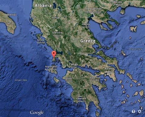 lefkada map greece