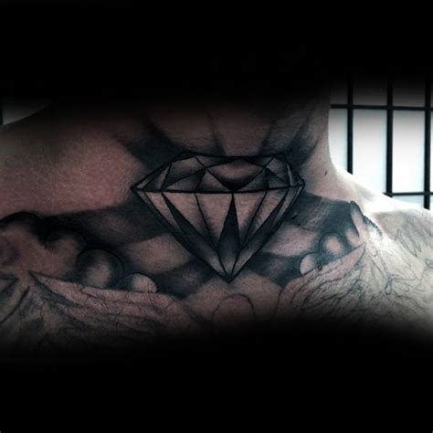 diamond tattoo throat 80 throat tattoos for men cool masculine design ideas