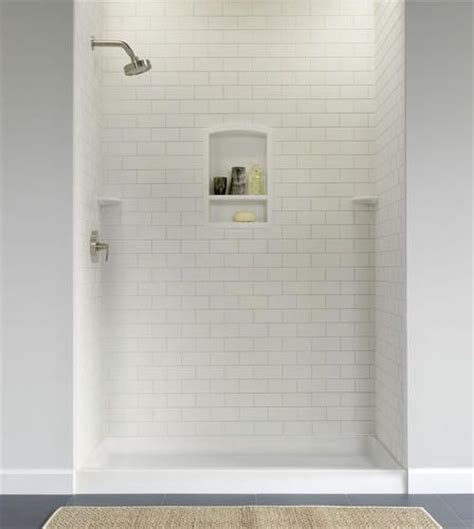 bathroom tile kits swanstone subway tile shower wall kit 36 bathroom