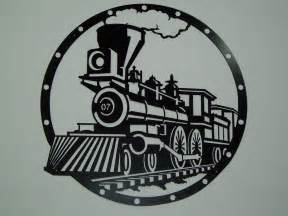 railroad steam engine metal wall art