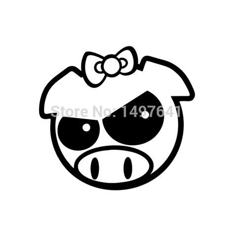 Jdm Sticker Angry Pig angry rally pig vinyl decal jdm drift truck bumper car