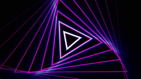 Triangel Neon by Neon Lights Vintage Tunnel Loop 1080p Neon Lights