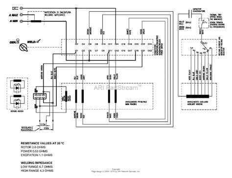 welder generator wiring diagram yk210e miller gas welder