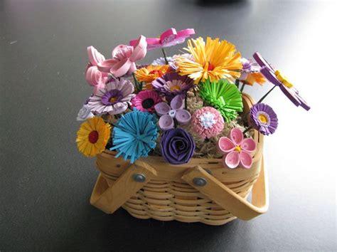 How To Make Paper Flower Basket - paper flower basket http lomets
