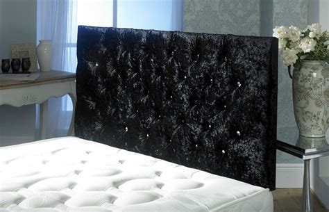 Velvet Buttoned Headboard by California Crushed Velvet Buttoned Headboard