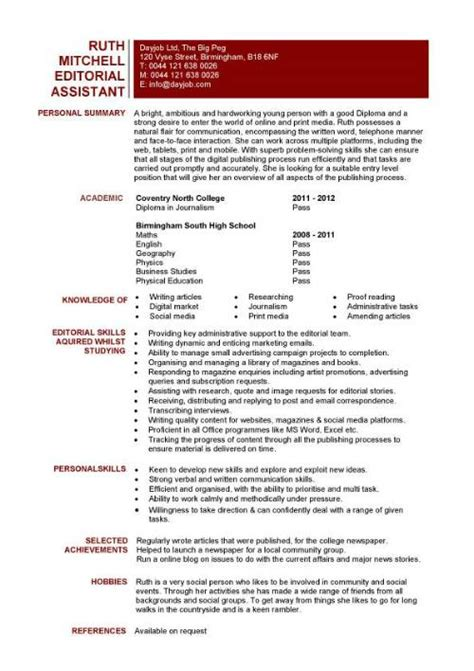Cv Template To And Edit Editor Cv Sle Overseeing The Layout And Appearance Of Articles Cv Resume