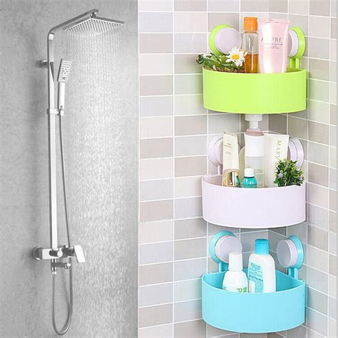 Plastic Bathroom Shelf by Plastic Bathroom Corner Storage Rack Organizer Shower