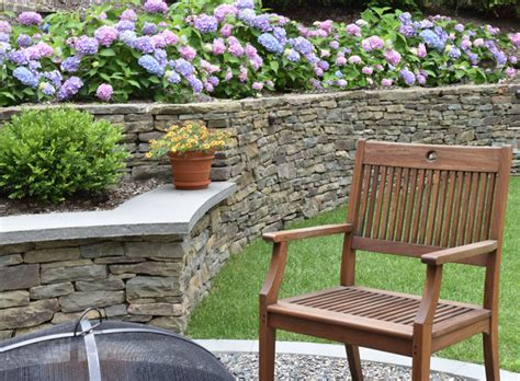 firepit kearny nj pit kearney seat wall with thermal bluestone cap
