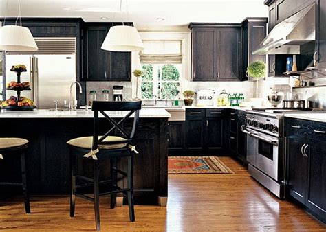 Dark Cabinet Kitchen Designs by Black Kitchen Design Ideas