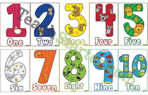 printable animal numbers number names worksheets 187 printable number cards 0 10