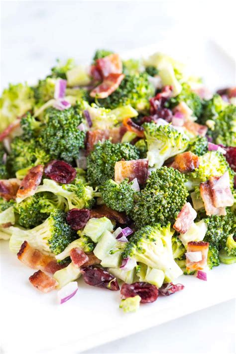 easy salad easy broccoli salad recipe with bacon