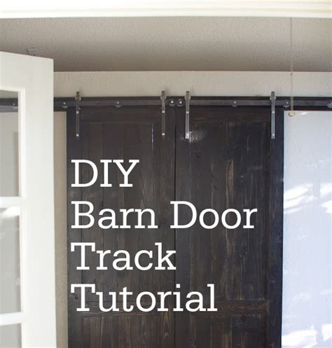 Diy Barn Door Track System Carline Corduroys Diy Barn Door Track Tutorail Baby Rabies