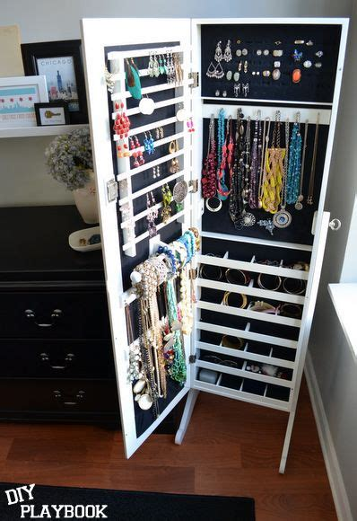 Diy Mirror Jewelry Armoire by 17 Best Ideas About Jewelry Cabinet On Mirror