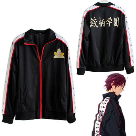 anime jacket anime free black long sleeve hoodie jacket cosplay